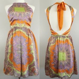 MM Couture by Miss Me Paisley Halter Dress Small